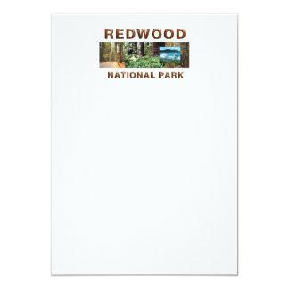 ABH Redwood 5x7 Paper Invitation Card