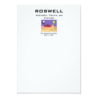 ABH Roswell 5x7 Paper Invitation Card