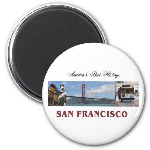 ABH San Francisco 2 Inch Round Magnet