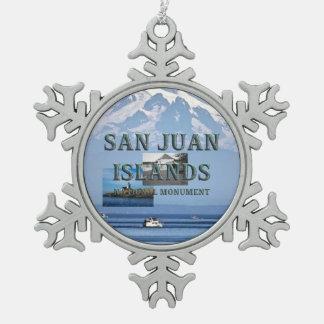 ABH San Juan Islands Snowflake Pewter Christmas Ornament