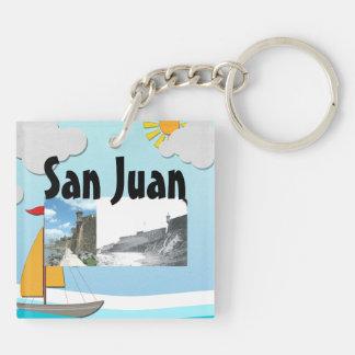 ABH San Juan Llavero Cuadrado Acrílico A Doble Cara