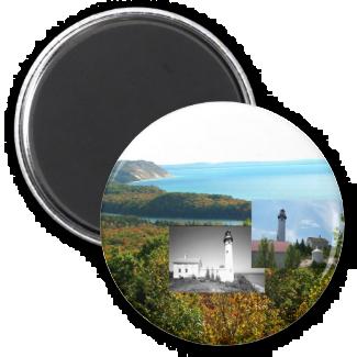 ABH Sleeping Bear Dunes 2 Inch Round Magnet