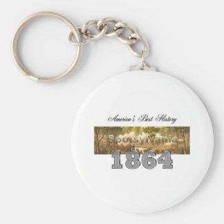 ABH Spotsylvania Basic Round Button Keychain