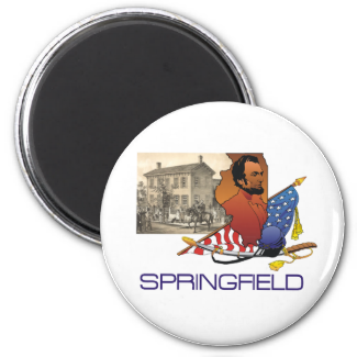 ABH Springfield 2 Inch Round Magnet