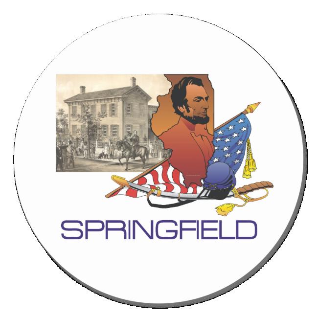 ABH Springfield Classic Round Sticker