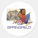 ABH Springfield Pegatinas Redondas