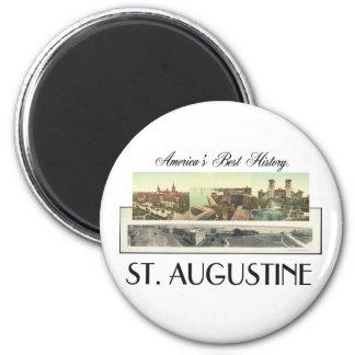 ABH St. Augustine 2 Inch Round Magnet
