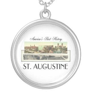 ABH St. Augustine Round Pendant Necklace