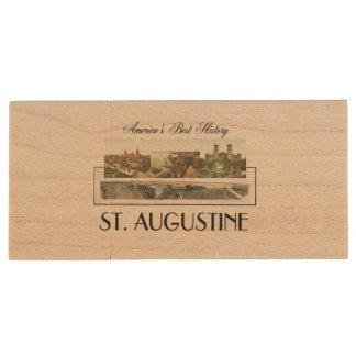 ABH St. Augustine Wood Flash Drive