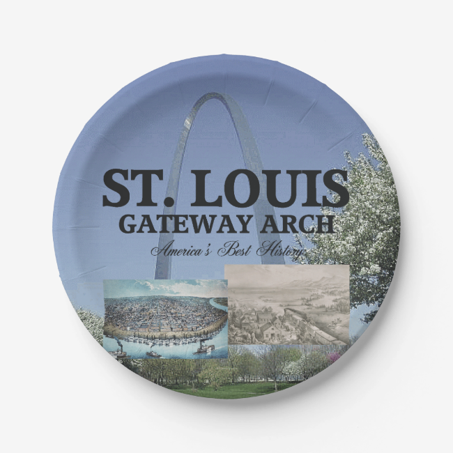 ABH St. Louis Gateway 7 Inch Paper Plate