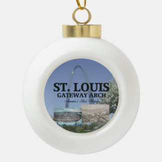 ABH St. Louis Gateway Ceramic Ball Christmas Ornament
