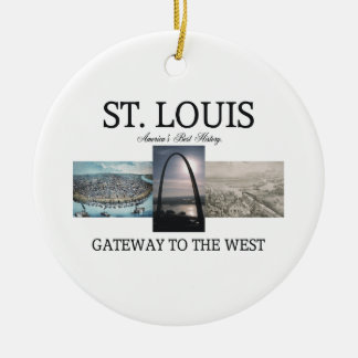 ABH St. Louis Gateway Ceramic Ornament