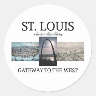 ABH St. Louis Gateway Round Sticker