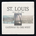 "ABH St. Louis Gateway Stone Coaster<br><div class=""desc"">The Gateway to the West and St. Louis&#39; Jefferson Memorial Arch. From the city where westward ho began,  get t-shirts,  sweatshirts,  and other gifts in archive and current photo style.Flight Instructor t-shirts and gifts.</div>"