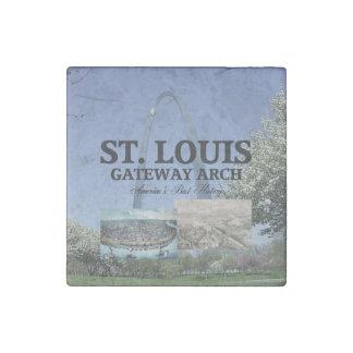 ABH St. Louis Gateway Stone Magnet