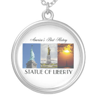 ABH Statue of Liberty Round Pendant Necklace