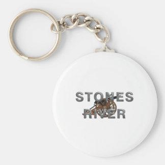 ABH Stones River Basic Round Button Keychain