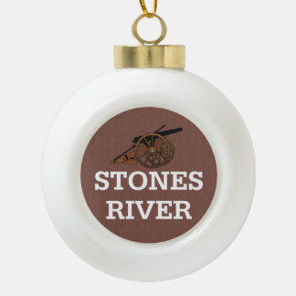 ABH Stones River Ceramic Ball Christmas Ornament