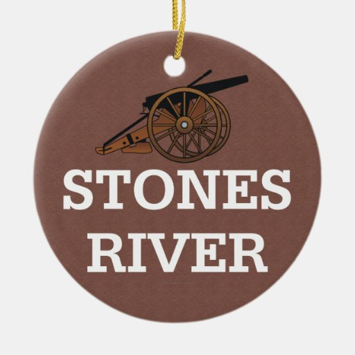 ABH Stones River Double-Sided Ceramic Round Christmas Ornament