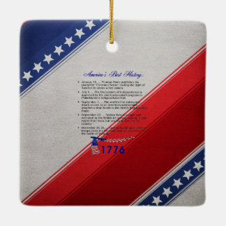 ABH Timeline 1776 Ceramic Ornament