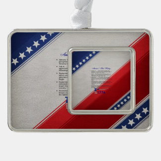ABH Timeline 1776 Silver Plated Framed Ornament