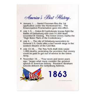 ABH Timeline 1863 Large Business Cards (Pack Of 100)