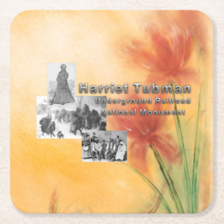 ABH Tubman National Monument Square Paper Coaster