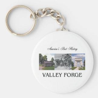 ABH Valley Forge Basic Round Button Keychain