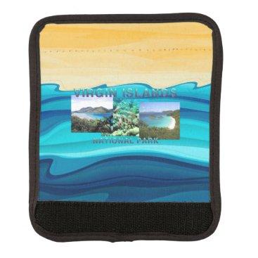 Beach Themed ABH Virgin Islands Luggage Handle Wrap