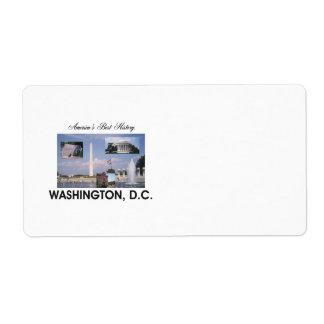 ABH Washington D C Shipping Label