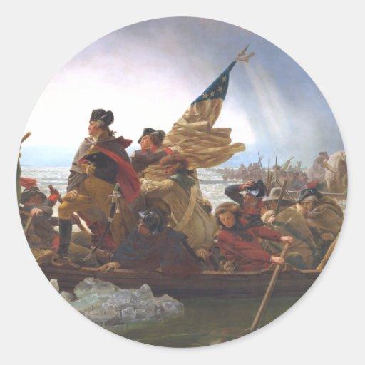 ABH Washington's Crossing Classic Round Sticker
