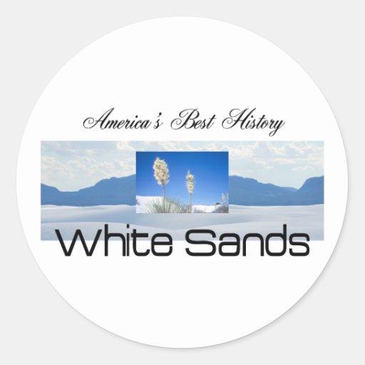 ABH White Sands Round Sticker