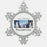 ABH Yellowstone Adorno De Peltre En Forma De Copo De Nieve