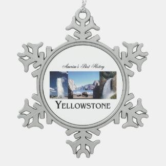 ABH Yellowstone Snowflake Pewter Christmas Ornament
