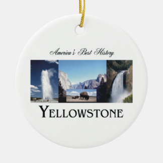 ABH Yellowstone Double-Sided Ceramic Round Christmas Ornament