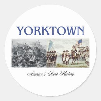 ABH Yorktown Pegatina Redonda