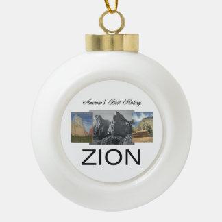 ABH Zion Ceramic Ball Christmas Ornament