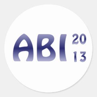 ABI 2013 ROUND STICKERS
