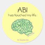 ABI awareness sticker