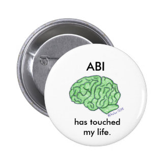 """""""ABI has touched my life"""" button"""