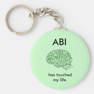 """ABI has touched my life"" keychain"