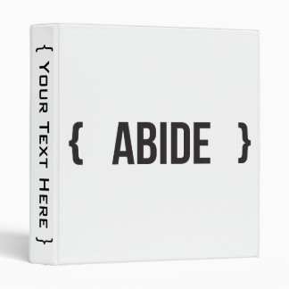Abide - Bracketed - Black and White Binder