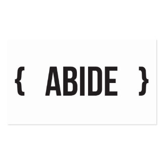 Abide - Bracketed - Black and White Business Card