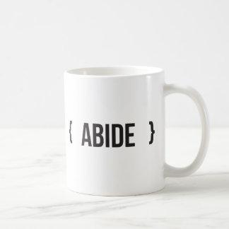 Abide - Bracketed - Black and White Coffee Mug