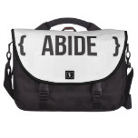 Abide - Bracketed - Black and White Laptop Computer Bag