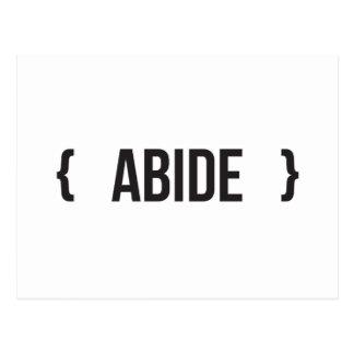 Abide - Bracketed - Black and White Postcard