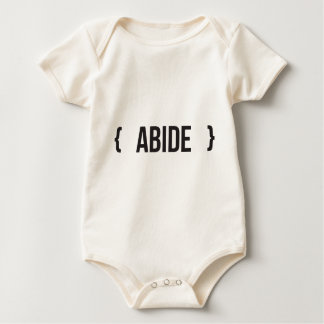 Abide - Bracketed - Black and White Bodysuit