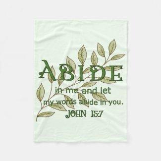 Abide In Me Fleece Blanket
