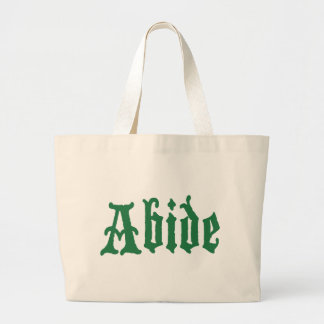 Abide (the green edtion) tote bag