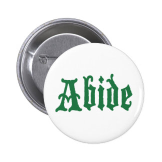 Abide (the green edtion) pin